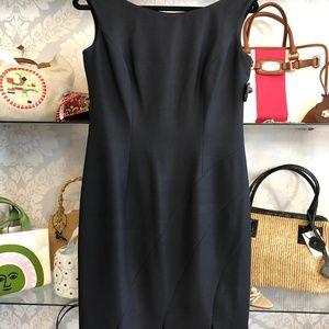 KAY UNGER New York Black Sleeveless Silk Dress